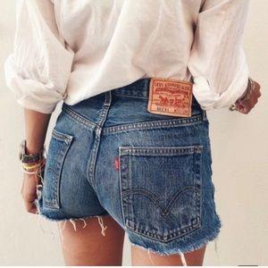 Levi's High Waisted Jean Shorts